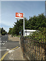 TM0595 : Attleborough Railway Station sign by Adrian Cable