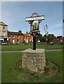 TM0495 : Attleborough Town sign by Adrian Cable