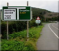 SH7401 : Directions sign north of Machynlleth by Jaggery