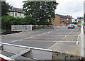 SO9322 : Barriers down at Alstone Lane level crossing, Cheltenham by Jaggery