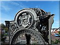 NS3878 : Old drinking fountain: detail by Lairich Rig