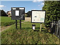 TM1389 : Tibenham Parish Walks Map  & Village Notice Board by Adrian Cable