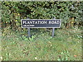 TM1589 : Plantation Road sign by Adrian Cable