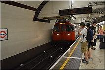 TQ2781 : Train arriving, Edgware Road Station by N Chadwick