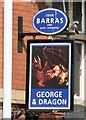 SJ8892 : Sign of the George & Dragon by Gerald England