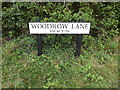 TM1691 : Woodrow Lane sign by Adrian Cable