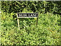 TM1691 : Muir Lane sign by Adrian Cable
