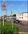 ST2995 : Warning sign - humps for 385 yards, Chapel Street,  Pontnewydd, Cwmbran by Jaggery