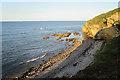 NJ1670 : Beach near Clashach by Anne Burgess