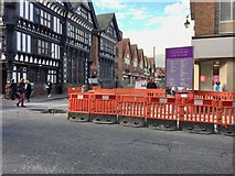 SJ4066 : Chester: roadworks at the corner of Frodsham Street by Jonathan Hutchins
