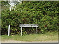 TM1589 : Woodrow Lane sign by Adrian Cable