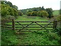 NY6718 : Waymarks on a gate near Bandley Bridge by Christine Johnstone