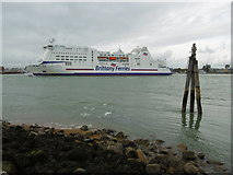 SZ6299 : The Mont St Michel heads out of Portsmouth Harbour by Marathon