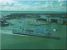 SZ6299 : The Mont St Michel arrives in Portsmouth Harbour by Marathon