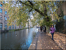 TQ3083 : Towpath, Regents Canal, King's Cross, London by Christine Matthews