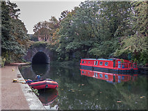 TQ3083 : Approaching the Tunnel, Regents Canal, King's Cross, London by Christine Matthews