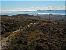 NS3679 : Path across Overton Muir by Lairich Rig