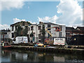 TQ3483 : Buildings, Regents Canal, london by Christine Matthews