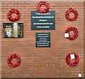 SD3136 : Memorials at Blackpool North station by Gerald England