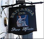 SJ4913 : Britannia Inn name sign, Castle Foregate, Shrewsbury by Jaggery