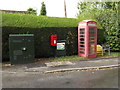 TM1791 : The Green Postbox & Telephone Box by Adrian Cable