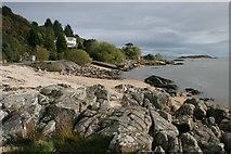 NX8354 : Shore near Chapman's Stone, Kippford by Richard Sutcliffe