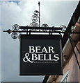 TM4290 : Sign for the Bear & Bells, Beccles by JThomas