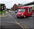 SJ8989 : Ice cream van in Shaw Heath, Stockport by Jaggery