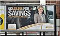 """J3474 : Ulsterbus """"Goldline"""" poster, Belfast (October 2016) by Albert Bridge"""