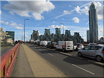TQ3078 : Cycle Superhighway 5 by Hugh Venables