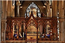 SK9136 : Grantham, St. Wulfram's Church: Choir practice by Michael Garlick