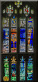 SO8318 : Finzi window, Gloucester Cathedral by Julian P Guffogg