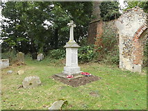 TM1685 : War Memorial at the Remains of St.Mary's Church by Adrian Cable