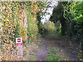 SJ6175 : Footpath from Church Road, Little Leigh to Bridge 204 on the Trent and Mersey Canal by Gary Rogers