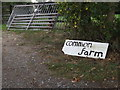 TM1383 : Common Farm sign by Adrian Cable