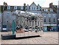 NJ9406 : Reflection in the Castlegate, Aberdeen by Bill Harrison