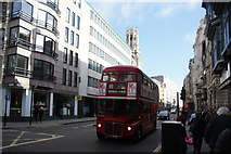TQ3181 : View of a Routemaster bus on Fleet Street by Robert Lamb