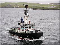 HU4840 : Lerwick Pilot Boat MV Knab in Bressay Sound by David Dixon