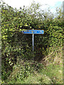 TM0991 : Cycleway sign on Wymondham Road Cycleway by Adrian Cable