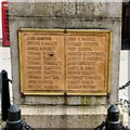 SD3439 : Poulton-le-Fylde War Memorial: Names (A-G) by Gerald England