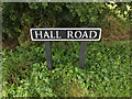 TM1094 : Hall Road sign by Adrian Cable