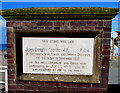 SH5700 : Late Victorian tablet at the northern end of Marine Parade, Tywyn by Jaggery