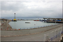 SH2482 : The Old Harbour at Holyhead by Jeff Buck