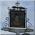 TM3289 : Sign for the Queens Head, Earsham by JThomas