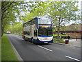 TL1496 : Bus on the busway, Orton Brimbles by Richard Vince