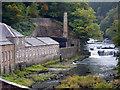 NS8842 : River Clyde at New Lanark by Chris Allen
