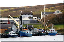 HU4039 : Fishing boats in the East Voe of Scalloway by Mike Pennington