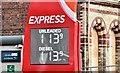 J3373 : Fuel prices sign, Belfast (25 October 2016) by Albert Bridge