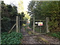 TM2380 : Entrance to Weybread Sewage Works by Adrian Cable