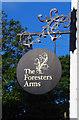 NZ2820 : The Foresters Arms (2) - sign, Brafferton Lane, Coatham Mundeville, near Darlington by P L Chadwick
